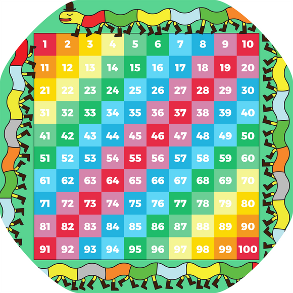 Tuff Tray Mini Mat 1-100 Number Grid