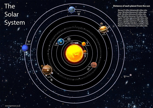 The Solar System Poster Tiger Moon