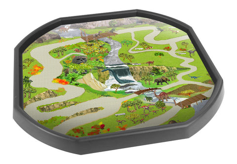 Lost World Dinosaurs Tuff Tray Mat (Black Tray Not Included)