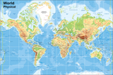 World Vinyl Map Size with 15 cm grid (Suitable for use by children with Programmable Floor Robots such as Bee-Bots)