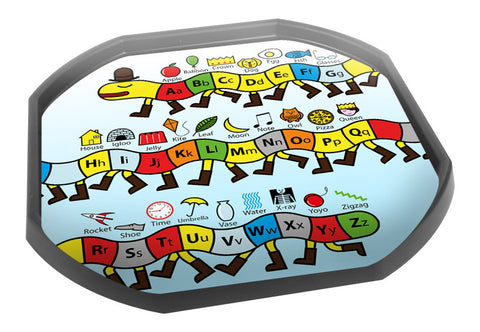 Alphabet Centipede Literacy Tuff Tray Mat (Black Tray Not Included)