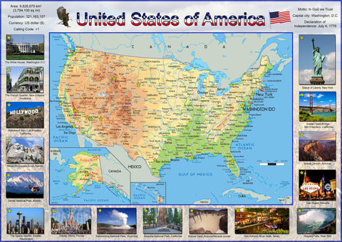 Illustrated Map of the USA