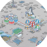 Four Mat Bundle Tray Mats - Alphabet Zoo, Space Station, Underwater Scene, Lost World  (Black Tray Not Included)
