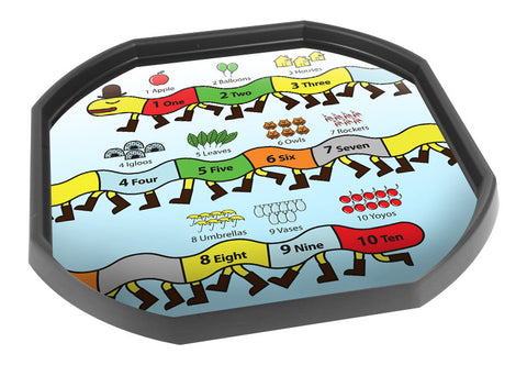 Centipede Number Line Numeracy Tuff Tray Mat