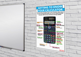 GCSE Maths - Getting to know your Calculator - Educational Poster - Size A2