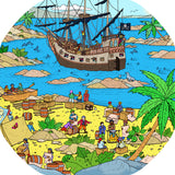 This bundle of four mats is ideal for use with a Tuff Tray. They're perfect for individual or small group play. The trays enable children to add water, toys, sand, pebbles and leaves to create interesting small environments.  Included in this bundle is:      Building Site     Pirate Scene     Pirate Island     Space Station