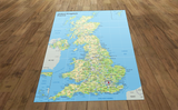 United Kingdom Vinyl Map Size with 15 cm grid (Suitable for use by children with Programmable Floor Robots such as Bee-Bots)