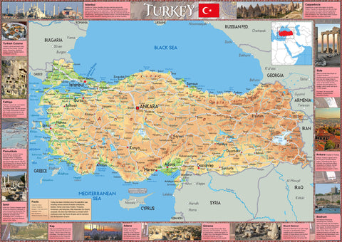 Illustrated Map of Turkey