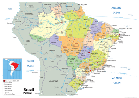 Maps tagged brazil tiger moon brazil political map gumiabroncs Image collections