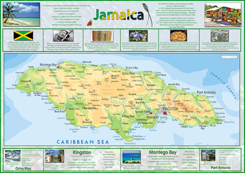 Illustrated Map of Jamaica