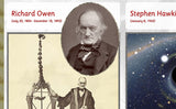 Famous British Scientists Poster