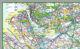 map of Cheshire, a county in England, UK. This map covers the City of Chester and towns: Sandbach Widnes Warrington