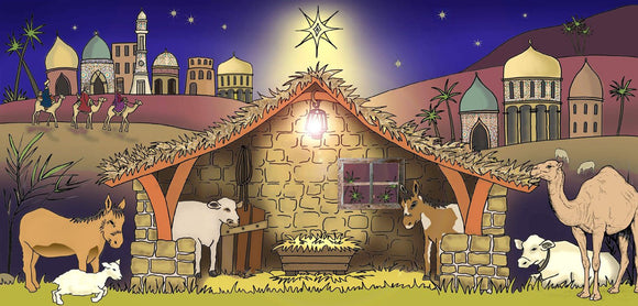 Modern Nativity Backdrop
