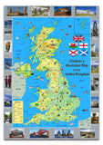 Children's Pictorial Illustrated Map of the United Kingdom