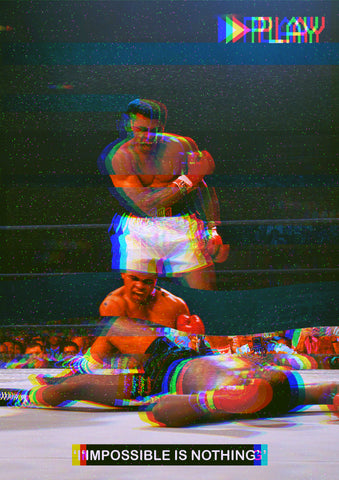 Muhammad Ali VHS Effect Poster