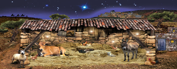 A Stable In Bethlehem 3D Nativity Scenery Set