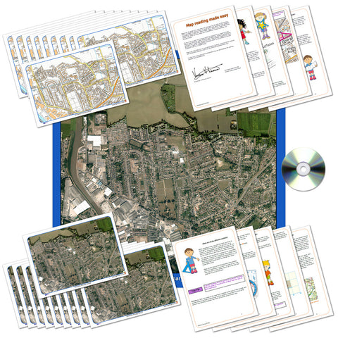 Aerial Map Classroom Pack of Your Local Area