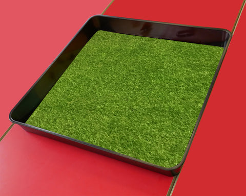 Artificial Grass, Astro Turf - Tiger Play Tray Mat Insert (Black Tray Not Included)