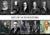 Set of 10 Inspirational Inventors Posters - A3 (29.7 x 42cm)