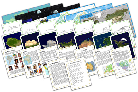 Continents and Oceans Display & Teaching Pack