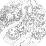 Erinsdale Fairy Village colour-in for the tuff tray or tuff spot