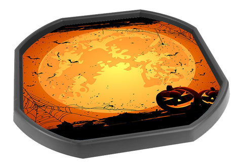 Halloween Pumpkin Tuff Tray Mat Insert (Black Tray Not Included)