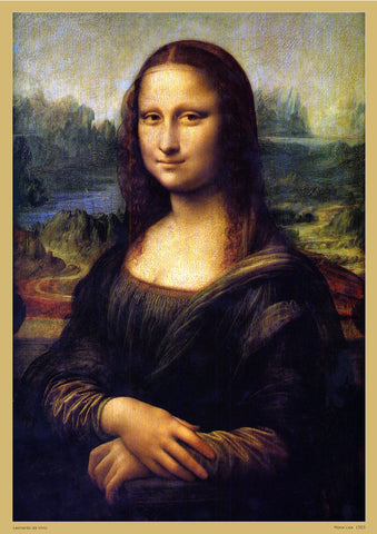 Mona Lisa by Leonardo Da Vinci Replica Print Wall Art - A2 - Paper Laminated