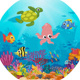 The Ocean Floor mat is ideal for use with a Tuff Tray. Spot and name the sealife and add your own water and aquatic toys for more fun! Swim among the reefs and a shipwreck with fish, turtles, octopuses, crabs, seahorses and starfish. Ideal for imaginative and messy play for individuals and small groups. Designed to fit in the Tuff Tray or the Tuff Spot.