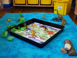 Lost World Dinosaur - Tiger Play Tray Mat Insert (Black Tray Not Included)