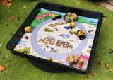 This Building Site Mat is ideal for use with our Tiger Play Tray. It's perfect for individual or small group play.      Can be used with character toys and vehicles for imaginative play or for messy play.