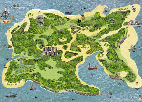 Pirate Island Play Mat