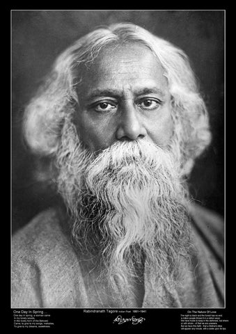 Famous Poet - Rabindranath Tagore - Education Poster - A3 Size
