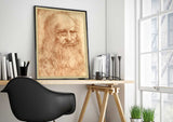 Portrait of a Man in Red Chalk - Leonardo Da Vinci Self Potrait - A2 Replica Print - Paper Laminated