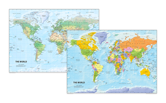 The World Map Set - Physical and Political