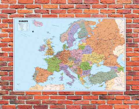 Europe Mounted Wall Map