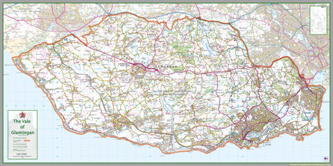 Vale of Glamorgan County Map