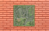 Your School Area - Aerial Photography - Mounted Board. 50 x 50cm