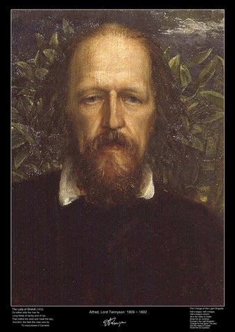 Famous Poet - Lord Alfred Tennyson - Educational Poster-A3 Size
