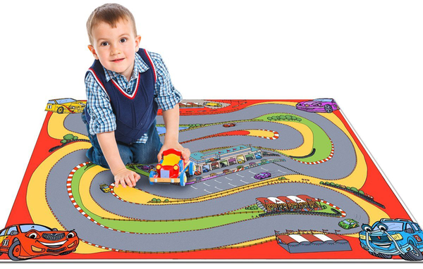Cars Racing Track Play Mat Tiger Moon