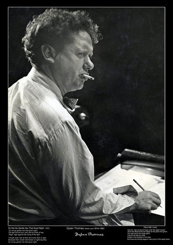 Famous Poet - Dylan Thomas - Education Poster - A3 Size