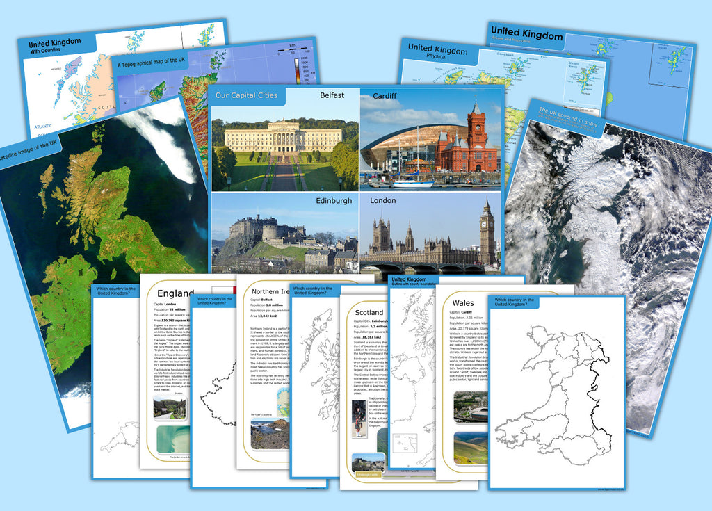 Map Of Uk Key Stage 1.Uk Teach Display Map Pack
