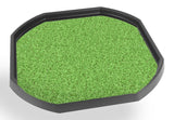 The Grass mat can fit in the Tuff Spot Tray and is ideal for individual or small group play. The trays enable children to add water, toys, sand, pebbles, and leaves to create interesting small environments.  Printed onto a high quality, durable vinyl material.  86cm x 86cm (approx )  Designed to fit in the Tuff Tray or the Tuff Spot.