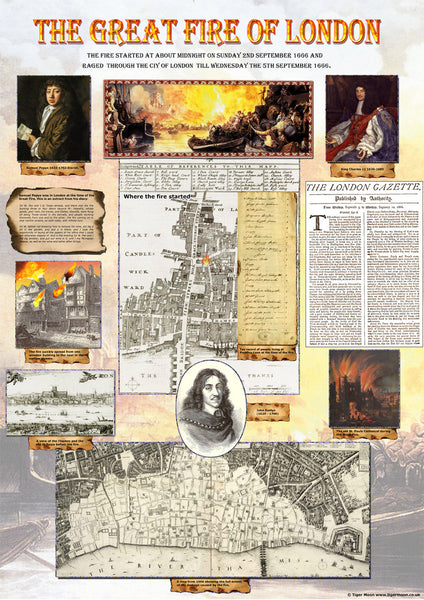 The Great Fire Of London Poster Tiger Moon