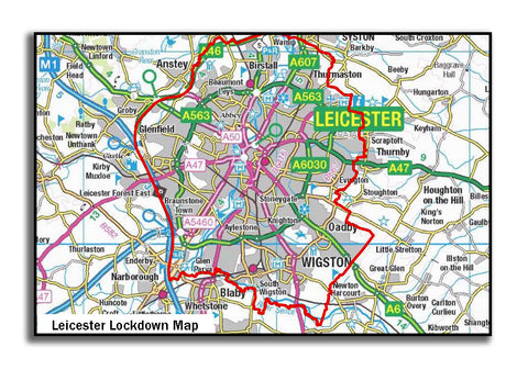 Official Leicester Lockdown Map (84.1 cm x 59.4 cm)
