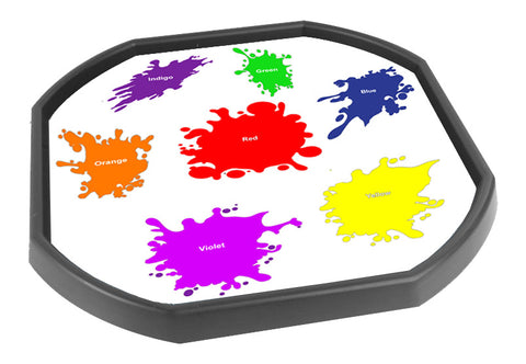 Paint Splash Tuff Tray Mat (Black Tray Not Included)