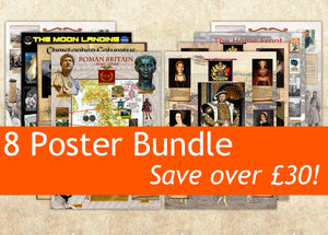 8 History Posters Special Offer Bundle