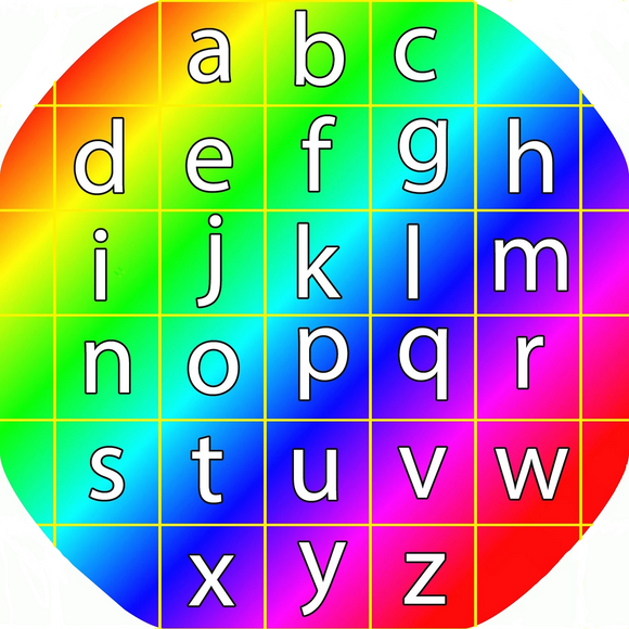 The rainbow alphabet mat is ideal for use with a Tuff Tray. Use it at home or in an early years setting to introduce the alphabet and phonics, the building blocks of literacy. Perfect for individual or group play and phonic and alphabet activities and games. Designed to fit in the Tuff Tray or the Tuff Spot.