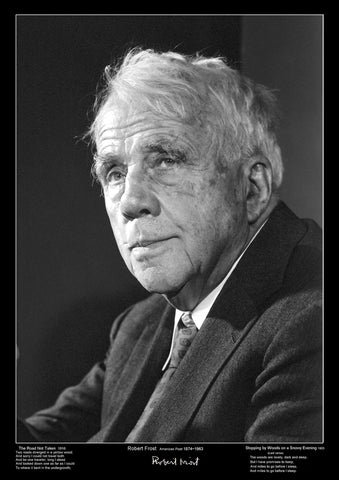 Famous Poets - Robert Frost - Educational Poster- A3 Size