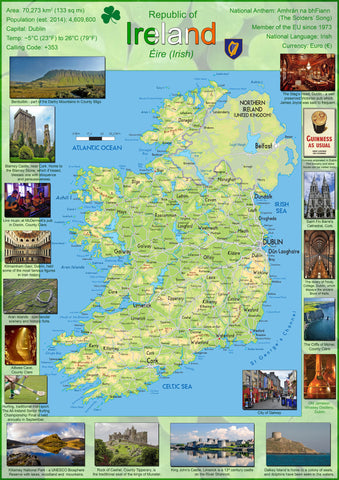 Illustrated Map of Ireland
