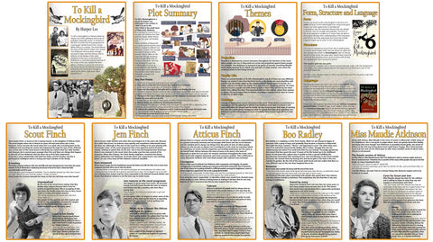 GCSE English - To Kill a Mockingbird - Educational Posters - Set of 9 - Size A3